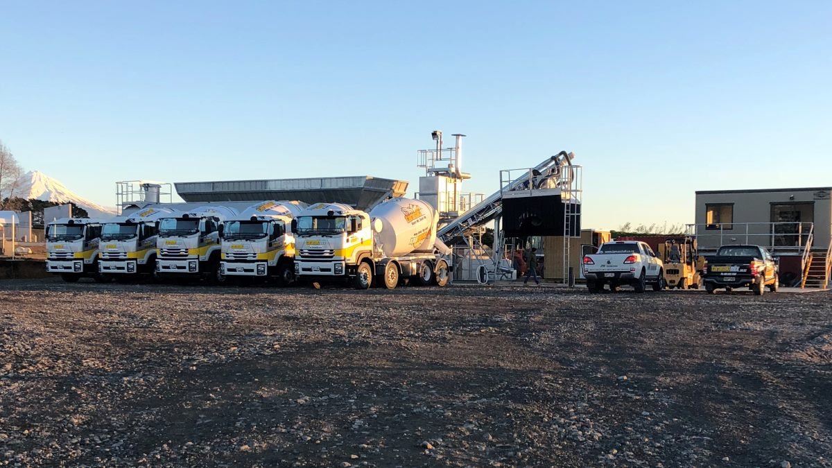fleet of taranaki mix trucks